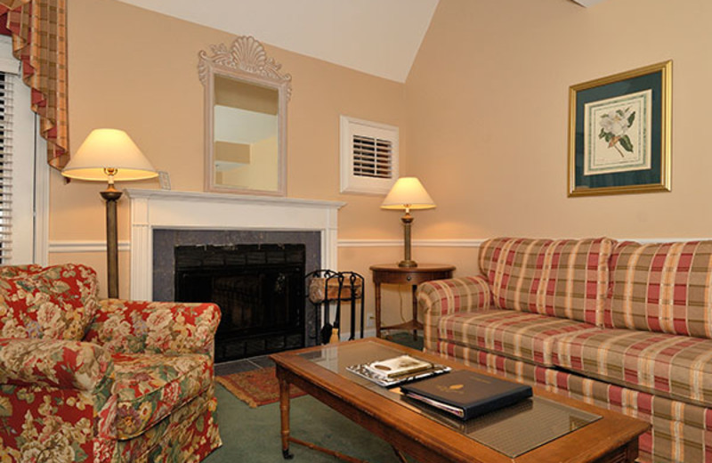 Villa living room at The Spa at Norwich Inn.