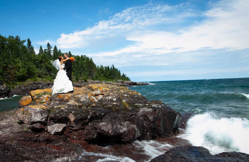 Weddings at Temperance Landing on Lake Superior.