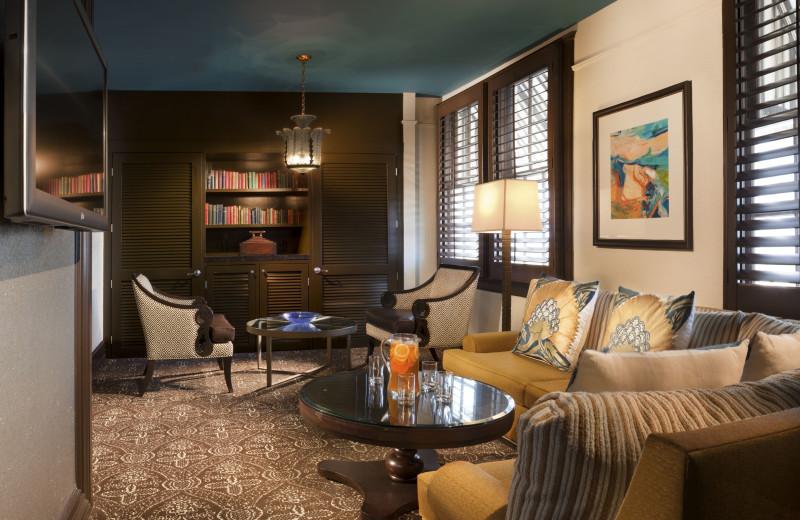 Guest living room at La Concha Hotel & Spa.