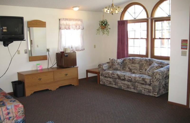 Guest room at Cedar Wood Inn.
