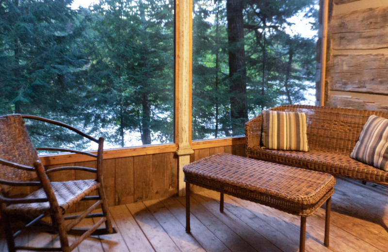 Guest balcony at Bartlett Lodge.