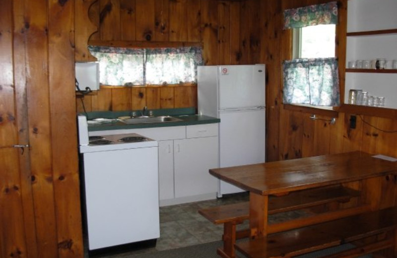 Cottage kitchen at Diamond Cove Cottages.