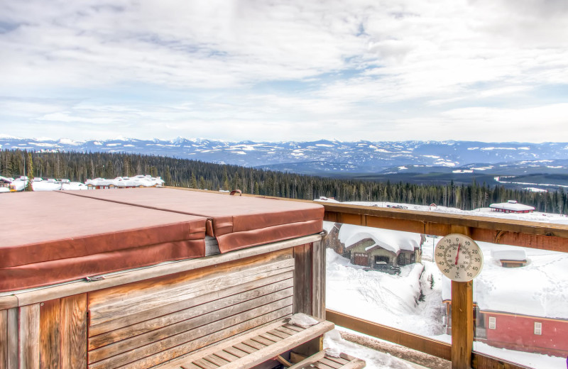 Views from your hot tub at RentChalets