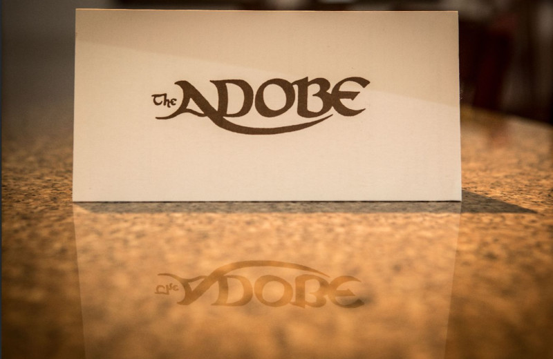 Logo at Adobe Resort.