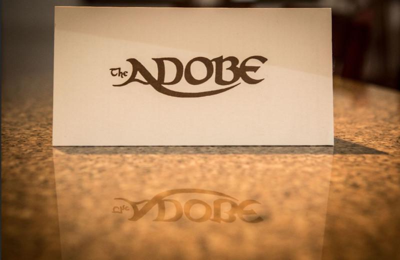 Logo at Adobe Resort.
