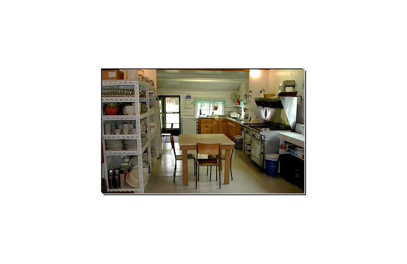 Kitchen at Pine Point Lodge & Outposts.