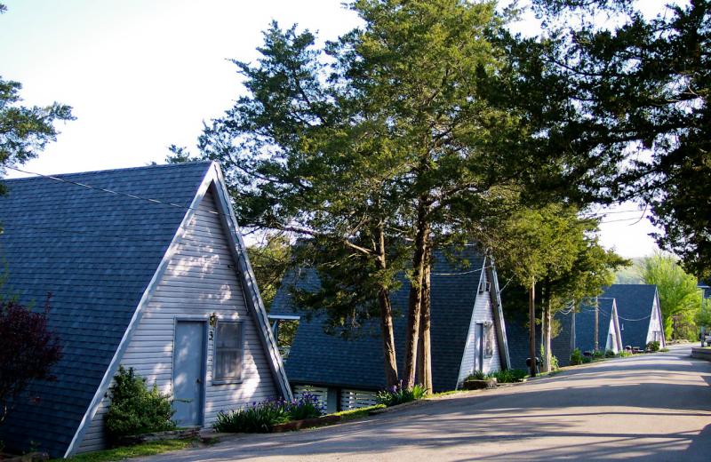 Cabin exterior at Alpine Lodge Resort.