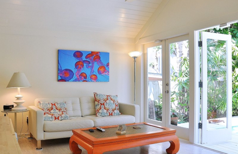 Vacation rental living room at Rent Key West Vacations.