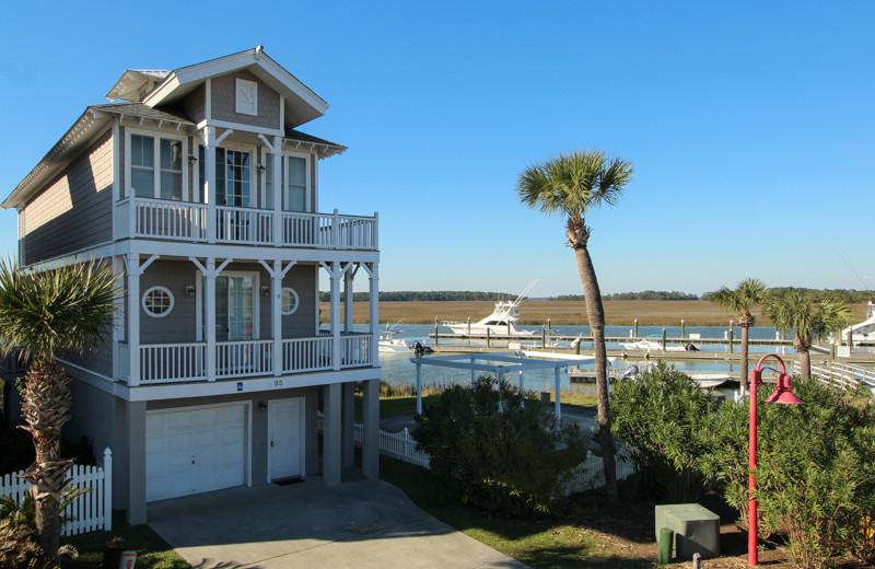 Rental exterior at Fripp Island Golf & Beach Resort.