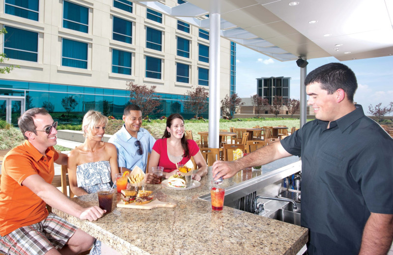Outdoor dining at Omni Hotels.