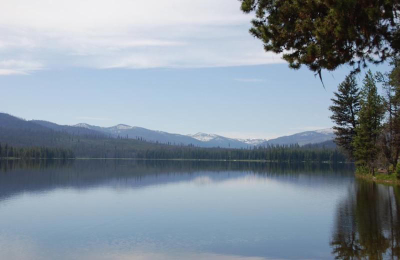 Lake view at North Shore Lodge & Resort.