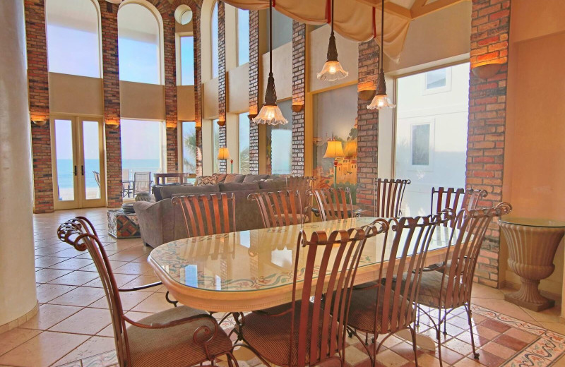 Rental dining room at Resort Vacation Properties of St. George Island.