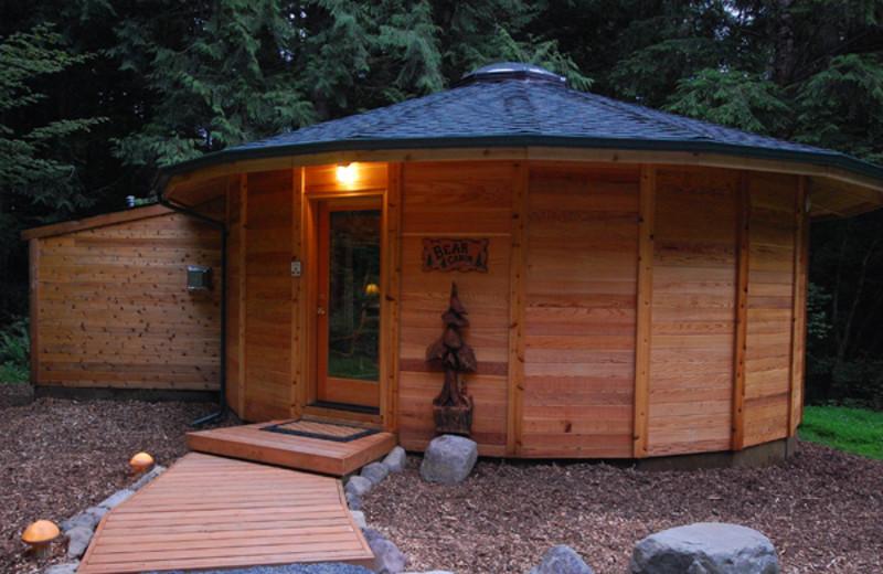 Cabin exterior at Stormking Spa and Cabins.