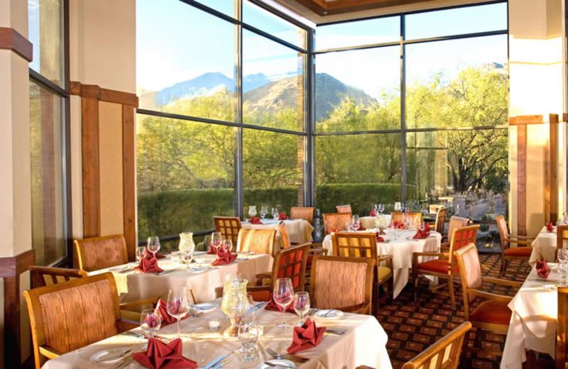 Dining at The Lodge at Ventana Canyon.