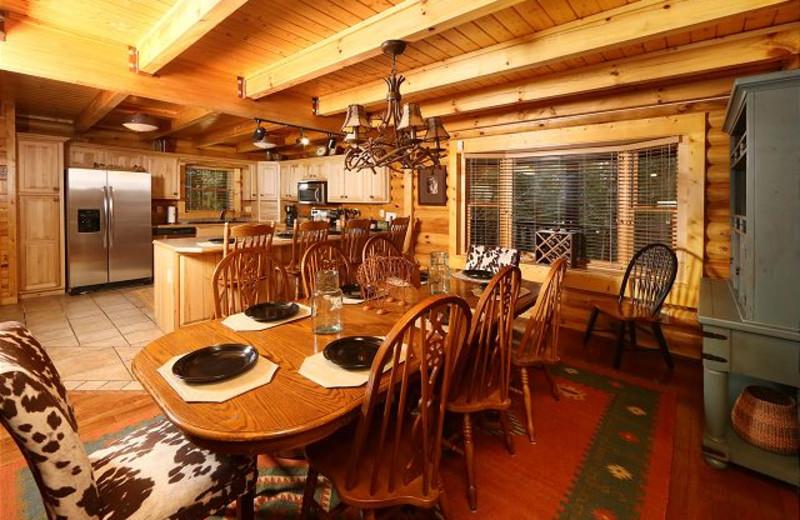 Cabin kitchen at Eden Crest Vacation Rentals, Inc. - Black Bear Hideaway.