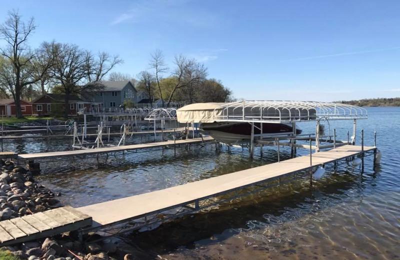 Dock at Pelican Beach Resort.