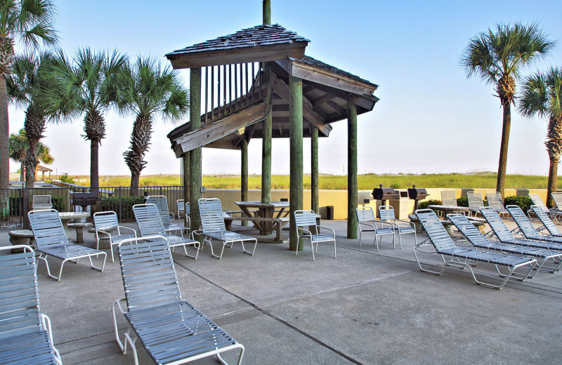 Rental patio at Gulf Coast Beach Getaways.