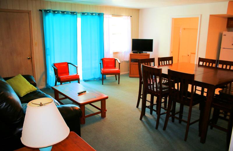Guest condo at Lynnhurst Family Resort.