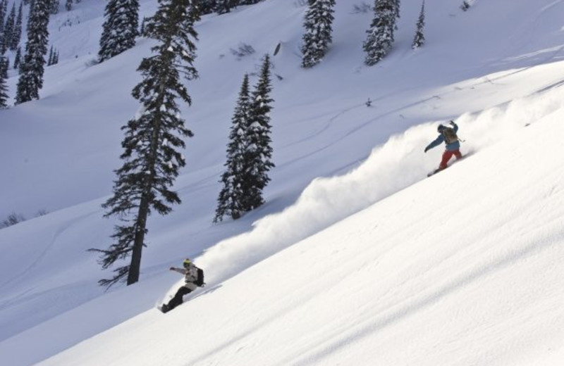 Skiing at Fernie Alpine Resort.