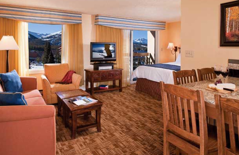 Guest suite at Marriot's Mountain Valley Lodge at Breckenridge.