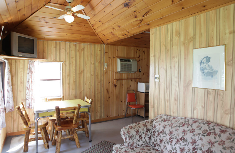 Cabin interior at Southview Cottages Resort.