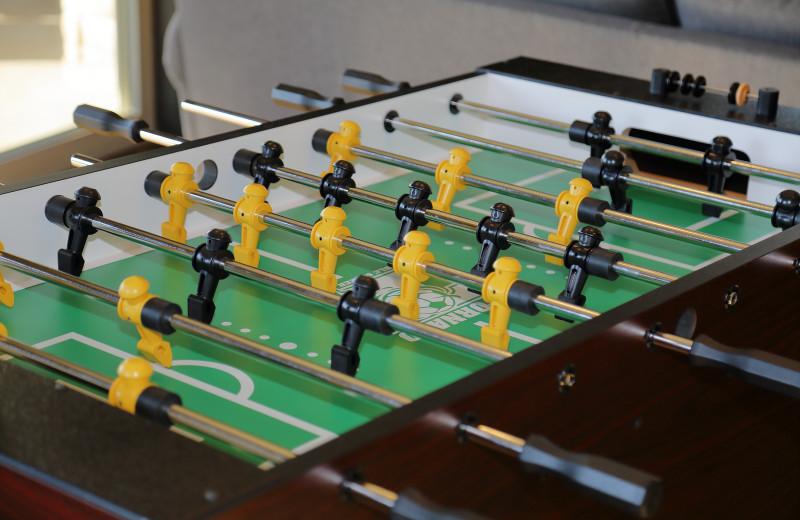 Guest Foosball table at Antlers Resort.