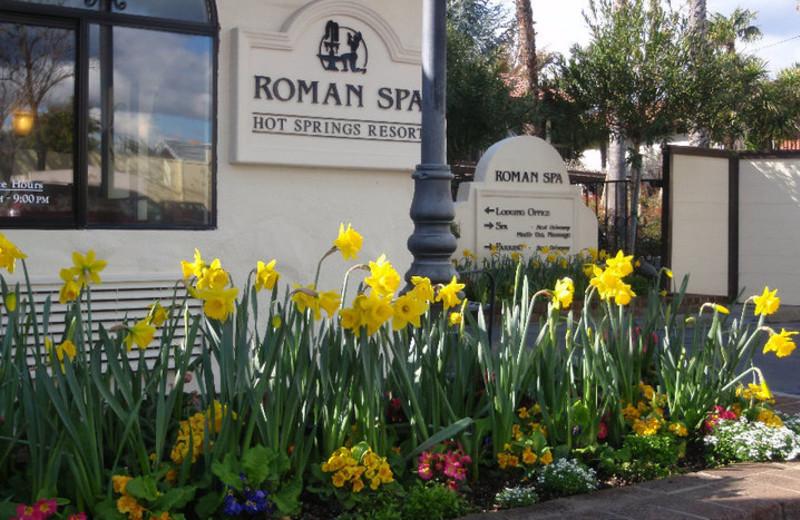 Exterior view of Roman Spa Hot Springs Resort.