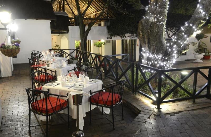 Dining at Indaba Hotel.