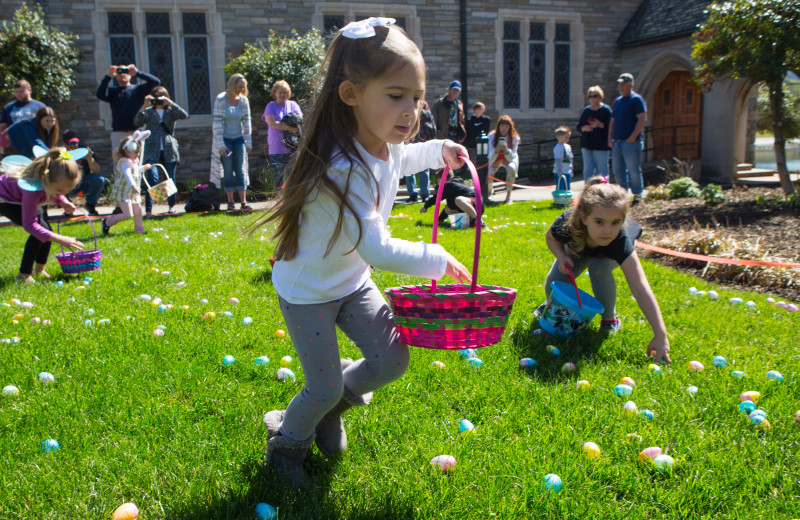 Children enjoy the annual Easter Egg Hunt at Lake Junaluska Conference and Retreat Center.