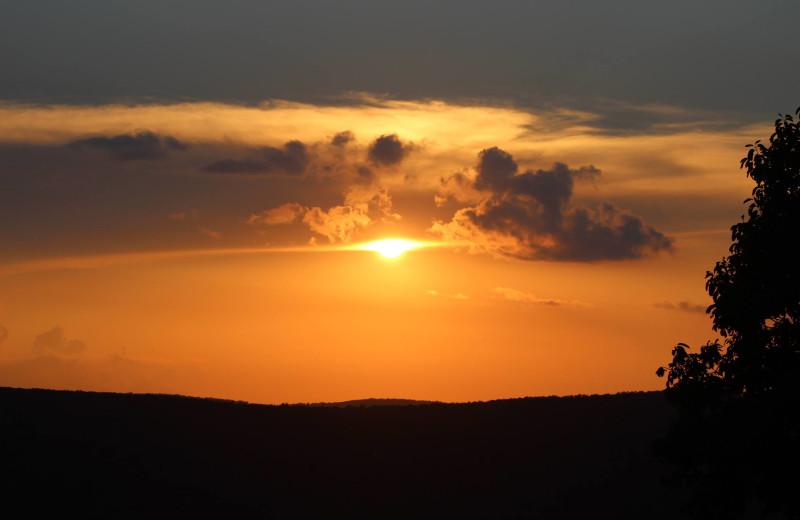 Sunset at Saddleback Lodge.