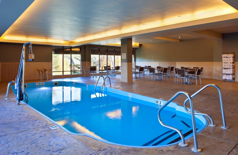 Indoor pool at DoubleTree by Hilton Breckenridge.