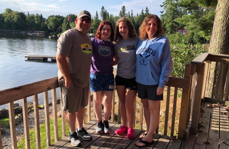 Family at Arrowhead Lodge & Resort.