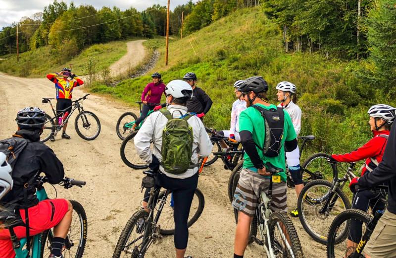Biking at The Mountain Inn.