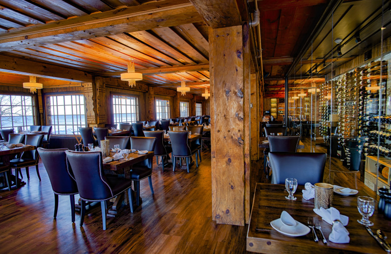 Dining room at Lutsen Resort on Lake Superior.