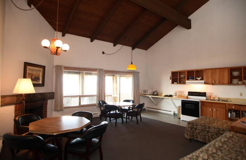 Guest living room at Sandpiper Beach Resort.