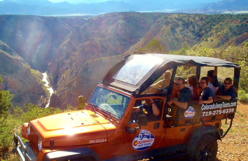 Jeep tours at Royal Gorge Cabins.