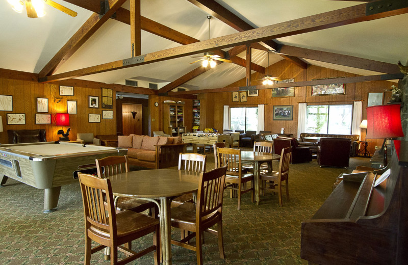Lodge interior at Rankin Ranch.