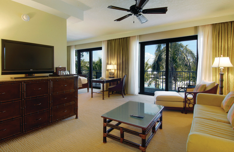 Guest living room at Hawks Cay Resort.