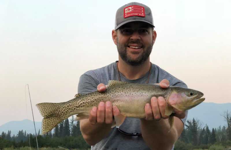 Fishing at Averill's Flathead Lake Lodge.