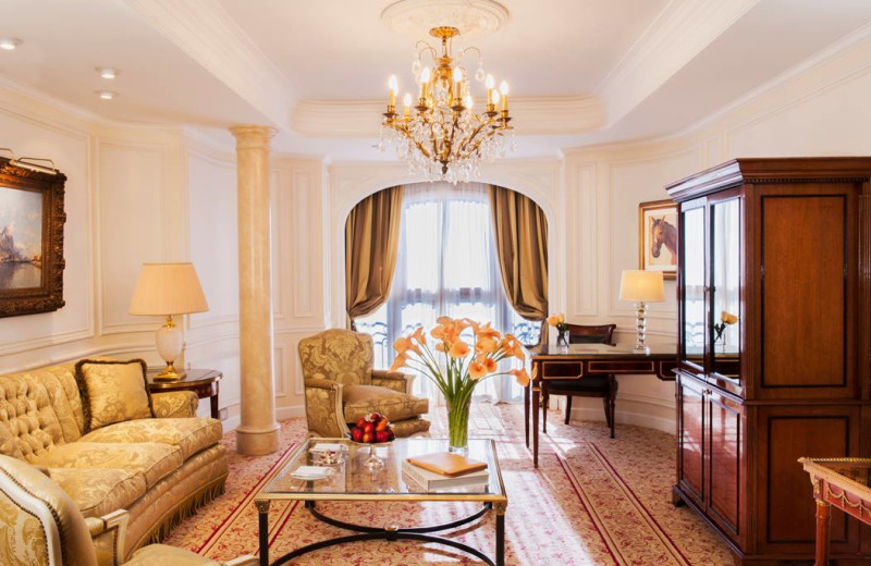 Guest room at Alvear Palace Hotel.