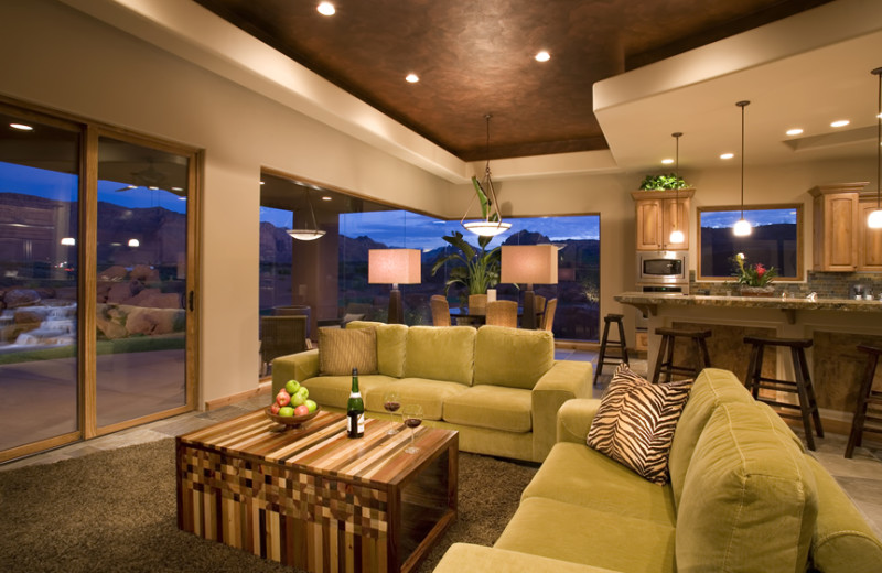 Guest suite living room at The Inn at Entrada.