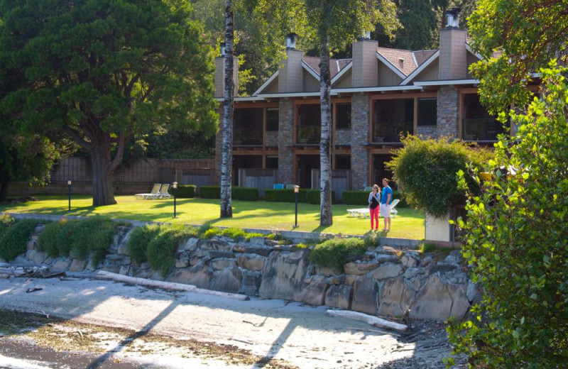 Exterior view of Galiano Oceanfront Inn and Spa.