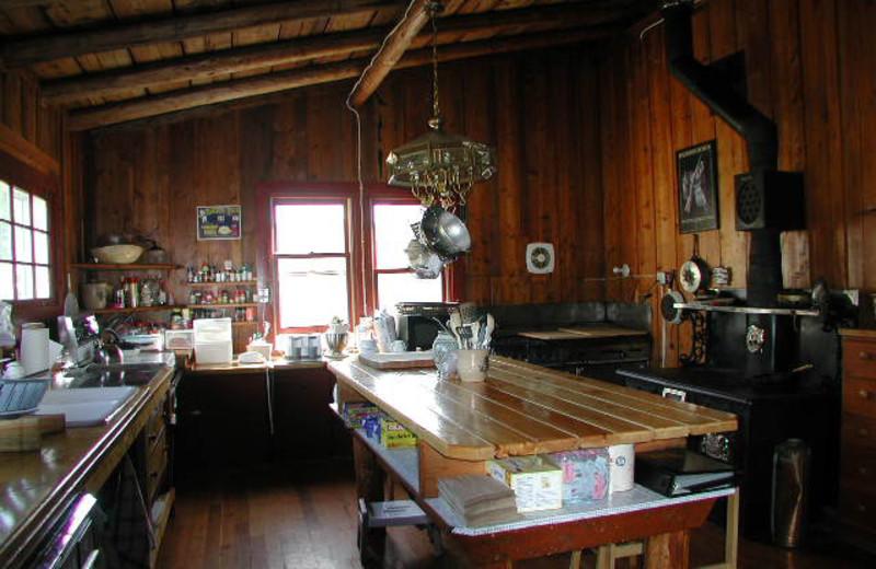 Main Lodge Kitchen at Rising Wolf Ranch.
