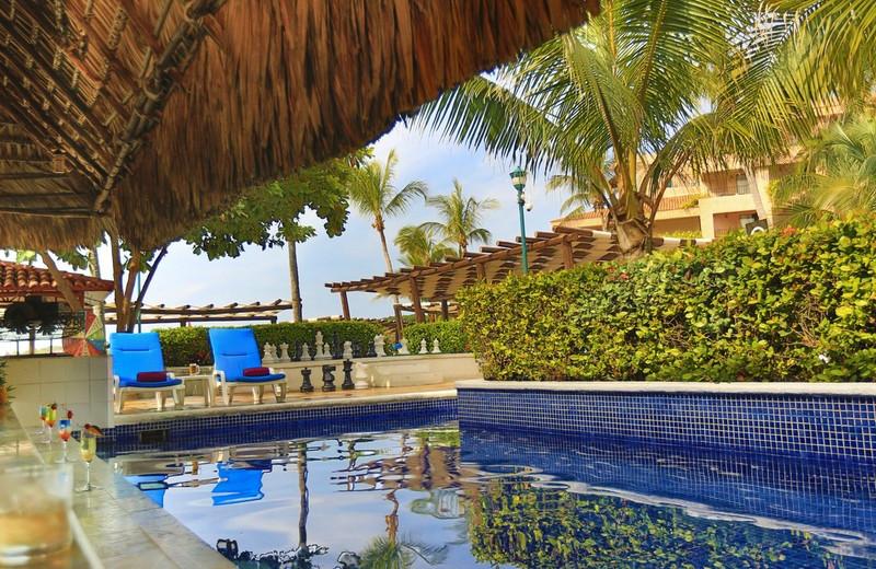 Tortuga Pool Bar at  Barcelo Huatulco Beach