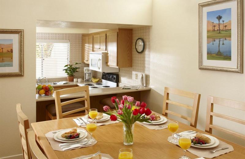 Vacation rental dining room at Vista Mirage Resort.