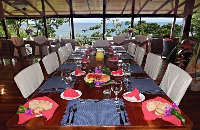 Dining at La Paloma Lodge.
