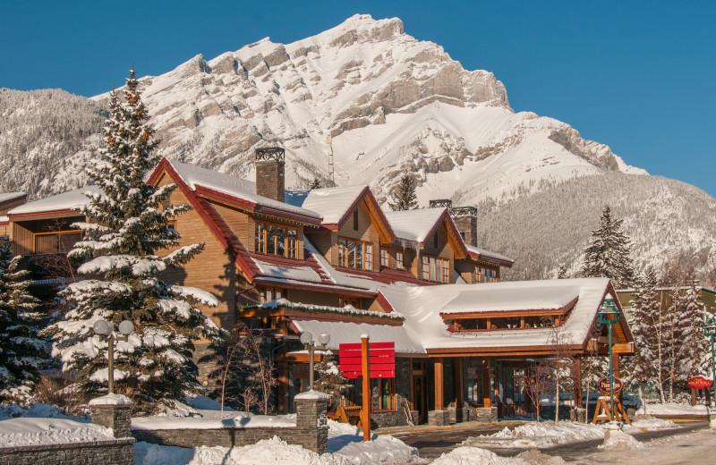 Winter at Banff Ptarmigan Inn.
