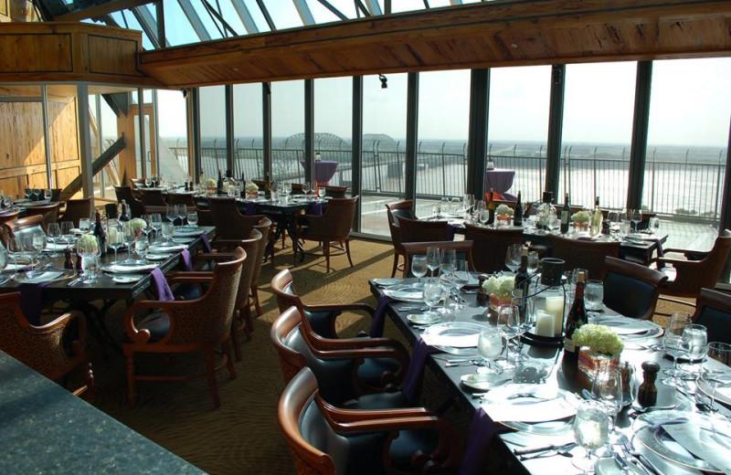 Dining at Big Cypress Lodge.