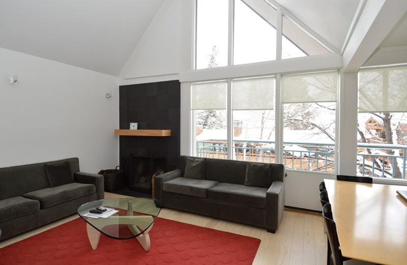 Rental living room at Frias Properties of Aspen - Fifth Avenue #5.