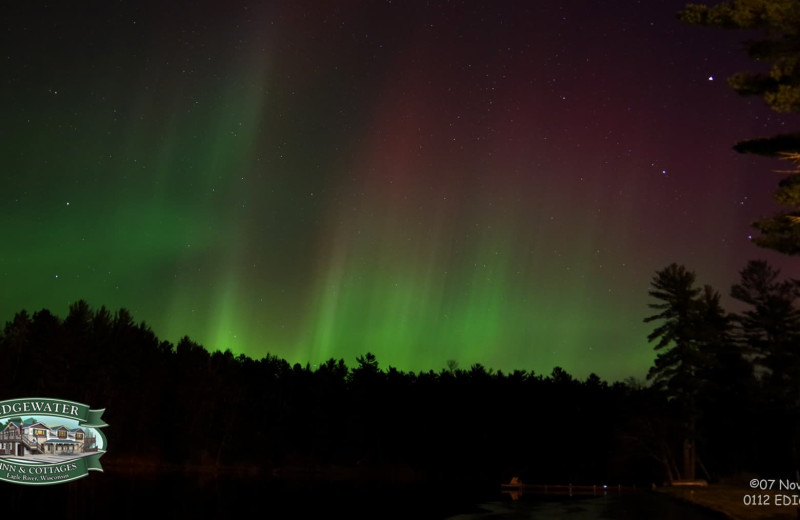 Northern lights at Edgewater Inn & Cottages.